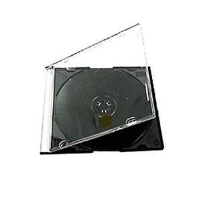 Picture of SLIM BLACK Tray CD Jewel CASE - FOR SINGLE DISCS , 10 Cases