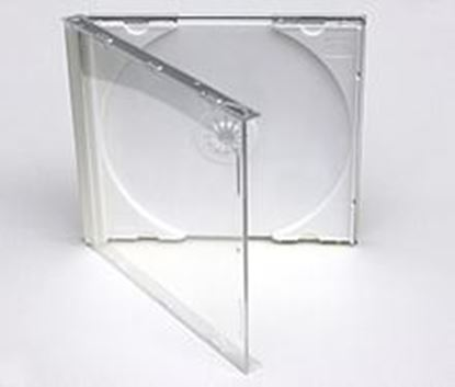 Picture of Normal Size CLEAR Tray CD Jewel CASE - FOR SINGLE DISCS , 200 Cases