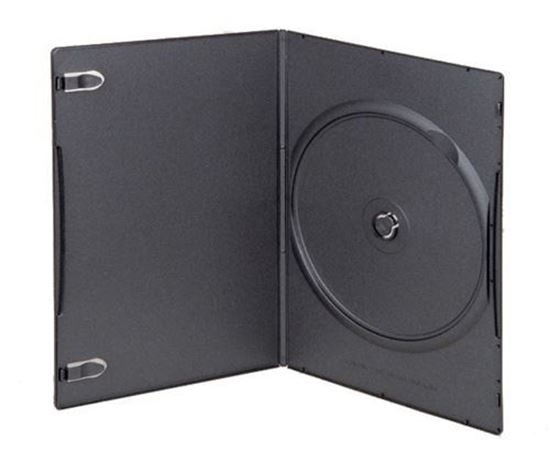 Picture of Slim Single DVD Case 7mm Black with Clear Film Cover 10 cases