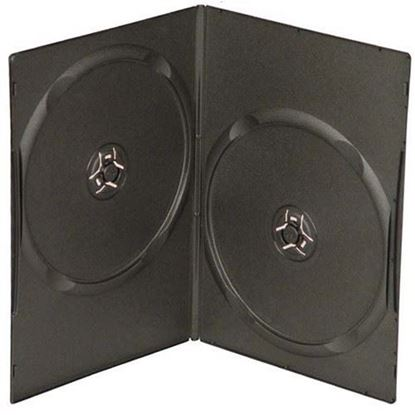 Picture of Slim Double DVD Case 7mm Black with Clear Film Cover  10 cases