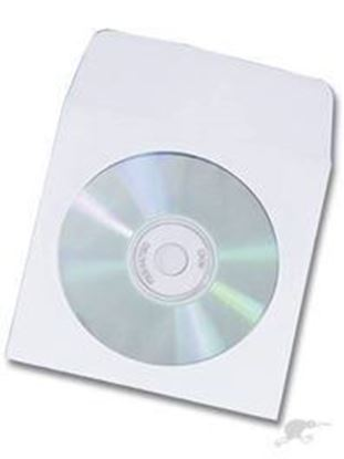 Picture of 100 Paper CD/DVD Sleeves with window