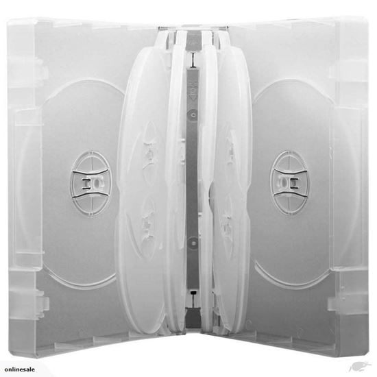 Picture of 10-DVD Case Clear 39mm thick with 4 Flip Tray  (Holds 10 discs) 10Cl