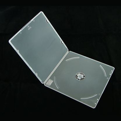 Picture of 10 PP Mail CD Case, Square Shape Plastic, Round corner Clear