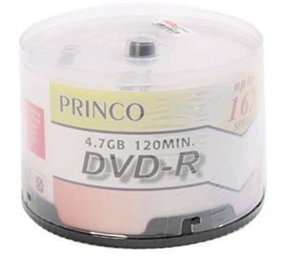 Picture of Princo White surface Inkjet Printable 16x DVD-R 50 Discs (Full Printable)
