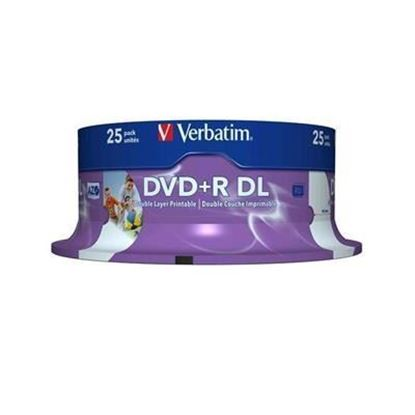 Picture of Verbatim 8x Printable Dual Layer 8.5GB DVD+R Disc (single disc)