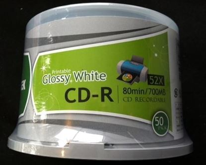 Picture of Ritek Glossy CD-R White Printable 50 Discs