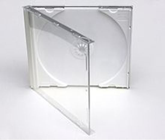 Picture of Normal Size CLEAR Tray CD Jewel CASE - FOR SINGLE DISCS , 10 Cases