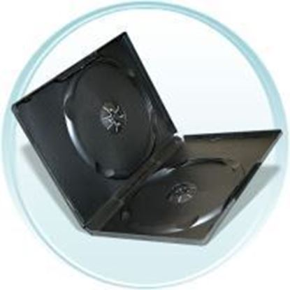 Picture of Double DVD Case 14mm Black with Clear Film Cover (100 pcs)