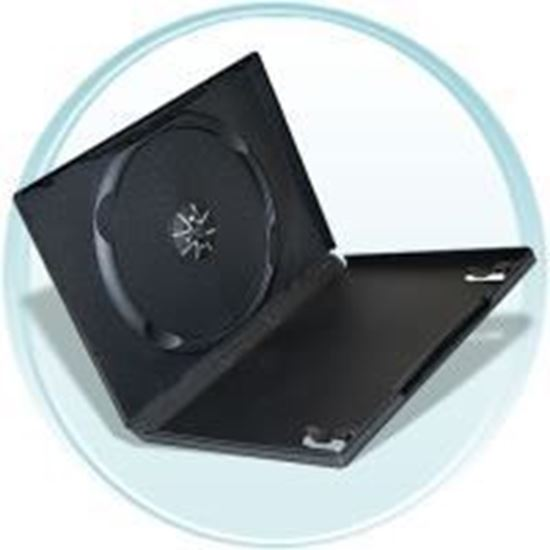 Picture of Single DVD Case 14mm Black with Clear Film Cover (100 pcs)