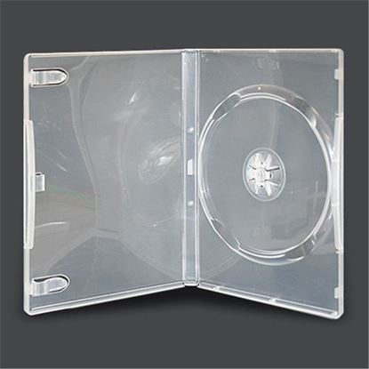 Picture of Single DVD Case 14mm Clear with Clear Film Cover (100 pcs)