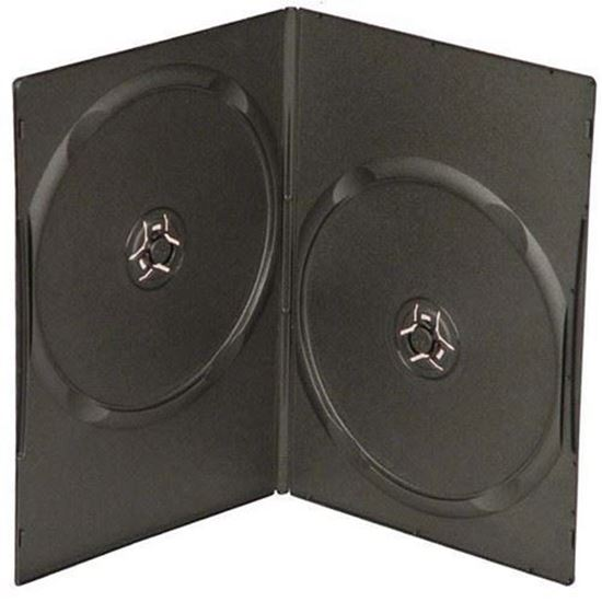 Picture of Slim Double DVD Case 7mm Black with Clear Film Cover (100 pcs)