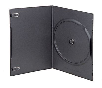 Picture of Slim Single DVD Case 7mm Black with Clear Film Cover (100 pcs)