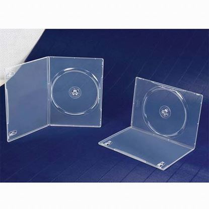 Picture of Slim Single DVD Case 7mm Clear with Clear Film Cover (100 pcs)