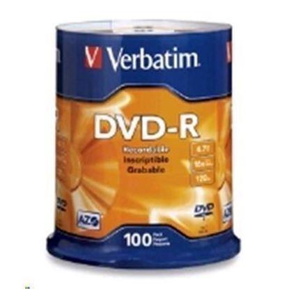 Picture of Verbatim DVD-R 4.7GB 100Pk Spindle 16x