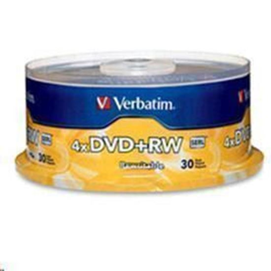Picture of Verbatim 94834 DVD+RW 30pk Spindle 4.7GB 4x