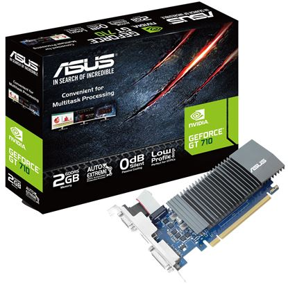 Picture of ASUS GeForce GT710 2GB GDDR5 Graphics Card , Single Slot , Silent Fan , VGA+DVI+HDMI , Low Profile support