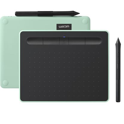Picture of Wacom Intuos CTL-4100WL Drawing Tablet Comfort PB S Pistachio Small bluetooth With a light, super-accurate pen