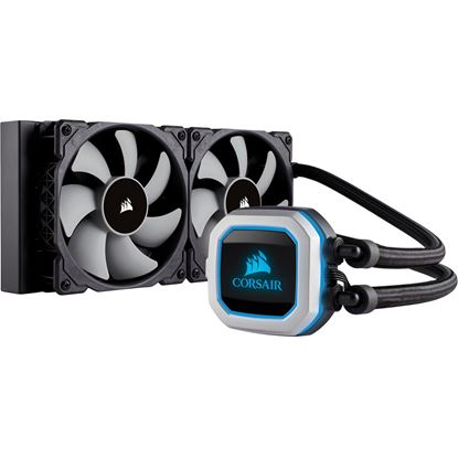 Picture of Corsair Hydro Series H100I PRO 240MM RGB Liquid CPU Cooler, 240MM RADIATOR, ADVANCED RGB LIGHTING AND FAN CONTROL WITH SOFTWARE