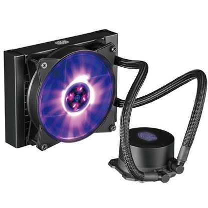 Picture of Cooler Master MasterLiquid Lite ML120L All in One Watercooling Single RGB 120 fans - Performance 120mm radiator MAX TDP 180W Support Intel LGA 2066 / 2011 / 1366 / 1156 / 1155 / 1151 / 1150 / 775 AMD Socket FM1 / AM4 / AM3+ / AM3 / AM2