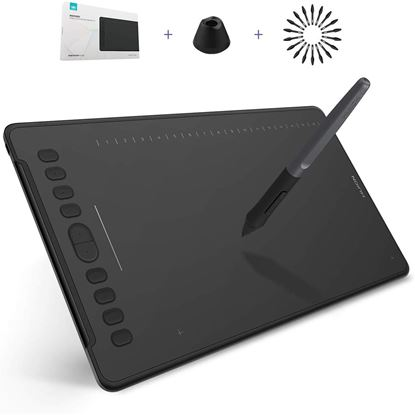 Picture of Huion Inspiroy H1161 Drawing Tablet Android Supported 11inch Digital Graphics Pen Tablet with Battery-Free Stylus 8192 Levels Pressure Sensitivity, Tilt Function, Touch Bar