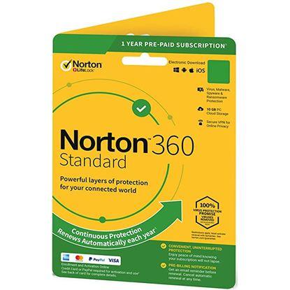 Picture of NortonLifeLock  Norton 360 Standard 10GB 2D 12M DVD Channel - System Builder