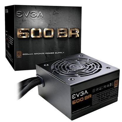 Picture of EVGA 600 BR 600W Power Supply 80+ Bronze, Single +12V Rail , 120mm Fan , Retail Box , MEPS Ready