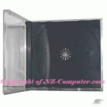 Picture of Normal Size Black Tray CD Jewel CASE - FOR SINGLE DISCS ,200 Cases